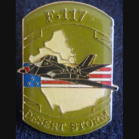 DESERT STORM : pin's métallique de l'avion F-117 de fabrication Sesa