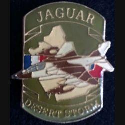 DESERT STORM : pin's métallique de l'avion Jaguar de fabrication Sesa