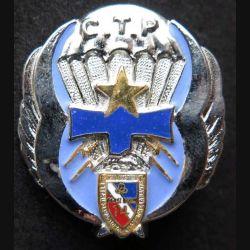14° RPCS : insigne métallique de la compagnie des transmissions Prachutistes CTP du 14° Régiment parachutiste de commandement et de soutien de fabrication Ballard