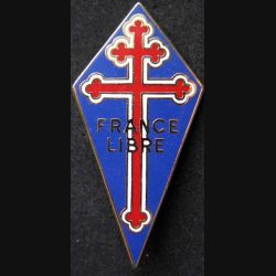 FRANCE LIBRE : insigne de la France Libre 65 x 31 mm de fabrication Ballard retirage