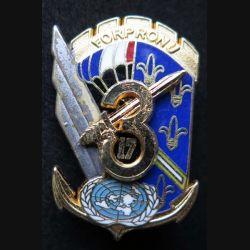 17° RGP 3° CIE : insigne de la 3° compagnie du 17°régiment parachutiste FORPRONU 1° mandat de fabrication Ballard