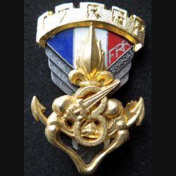 17° RGP 3° CIE : insigne de la 3° compagnie du 17°régiment parachutiste FRR 2° mandat de fabrication Ballard