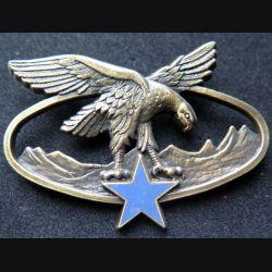 BSTM : insigne métallique du brevet de spécialité des troupes de montagne de fabrication Ballard G. 2465 bronze