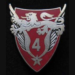 4° GHL : insigne du 4° groupe d'hélicoptères légers de l'armée de terre de fabrication Ballard G. 2073