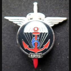 6° RPIMA : 6° régiment parachutiste d'infanterie de marine Ballard H. 721 argenté pointe de l'épée rouge