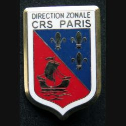 DZ CRS PARIS : insigne métallique de la direction zonale des compagnies républicaines de sécurité de Paris de fabrication Ballard