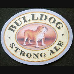 DESSOUS DE VERRE A BIÈRE : Dessous de verre à bière Bulldog strong ale de dimension 11,3  x 8,9 cm