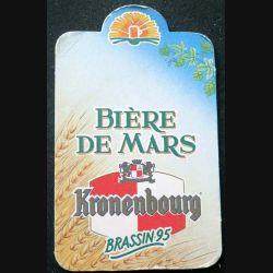 DESSOUS DE VERRE A BIÈRE : Dessous de verre à bière de Mars Kronenbourg brassin 95  de dimension 9  X 14,5 cm