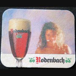 DESSOUS DE VERRE A BIÈRE : Dessous de verre à bière Rodenbach de dimension 9,9  X 7,9 cm
