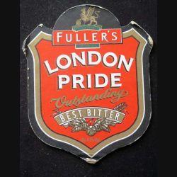 DESSOUS DE VERRE A BIÈRE : Dessous de verre à bière Fuller's London pride vustanding de dimension 12 X 14,5 cm (état moyen)