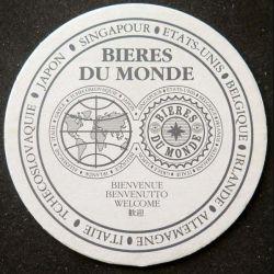 DESSOUS DE VERRE A BIÈRE : Dessous de verre à bière bières du monde de diamètre 10,3 cm