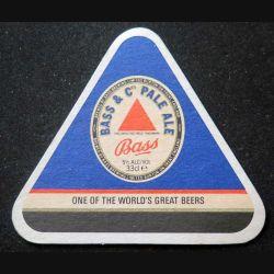 DESSOUS DE VERRE A BIÈRE : Dessous de verre à bière Bass de largeur 11 cm et de hauteur 10 cm