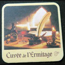 DESSOUS DE VERRE A BIÈRE : Dessous de verre à bière Cuvée de l'Hermitage de largeur 9 cm