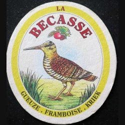 DESSOUS DE VERRE A BIÈRE : Dessous de verre à bière La Bécasse de largeur 9,8 cm