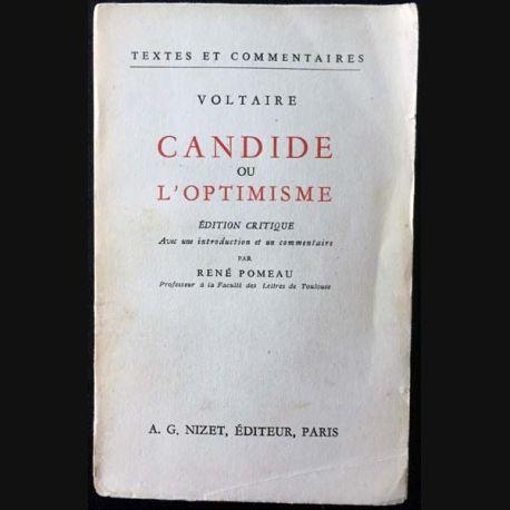 1. Candide ou l'optimisme de Voltaire aux éditions Librairie Nizet 1959