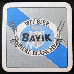 DESSOUS DE VERRE A BIÈRE Bavik bière blanche de largeur 9 cm