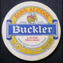 DESSOUS DE VERRE A BIÈRE : Dessous de verre à bière Buckler sans alccol de diamètre 10,7 cm
