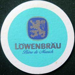DESSOUS DE VERRE A BIÈRE : Dessous de verre à bière Löwenbräu de diamètre 10,3 cm