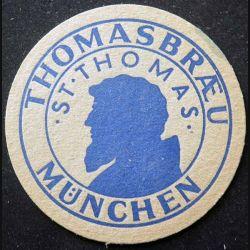 DESSOUS DE VERRE A BIÈRE : Dessous de verre à bière Thomasbræu de diamètre 10,7 cm