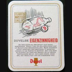 DESSOUS DE VERRE A BIÈRE : Dessous de verre à bière Duvel Eigenzinnigheid de dimension 9 x 11,5 cm