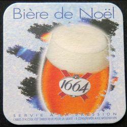DESSOUS DE VERRE A BIÈRE 1664 bière de Noêl de largeur 9 cm