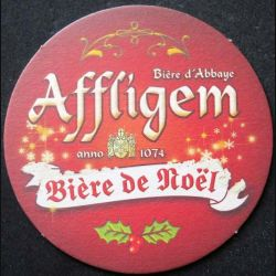 DESSOUS DE VERRE A BIÈRE  bière de Noël Affligem de diamètre 10,8 cm