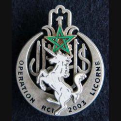 1° régiment de tirailleurs opération Licorne RCI 2003 Ballard