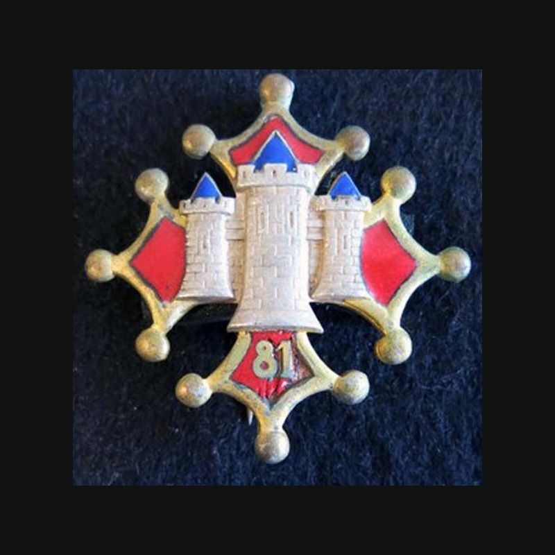 81° Régiment D'infanterie RI Drago Paris H. 111 Tour Croix