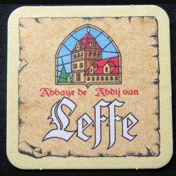 DESSOUS DE VERRE A BIÈRE : Dessous de verre à bière Leffe Abbaye de Abdij van de largeur 9 cm