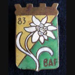 83° BAF : 83° bataillon alpin de forteresse en émail dos lisse