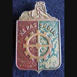 14° DI : insigne métallique de la 14° division d'infanterie de fabrication artisanale en métal peint