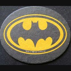 DESSOUS DE VERRE A BIÈRE Batman de largeur 11,5 cm