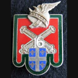 16° régiment d'artillerie Drago Paris H. 622 en émail