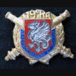 19° régiment d'artillerie en émail