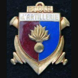 Ecole d'artillerie Drago Olivier Métra déposé H. 252 en émail