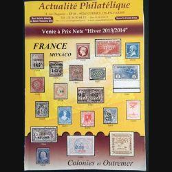 """1. Actualité Philatélique Vente à prix nets """"Hiver 2013/2014"""""""