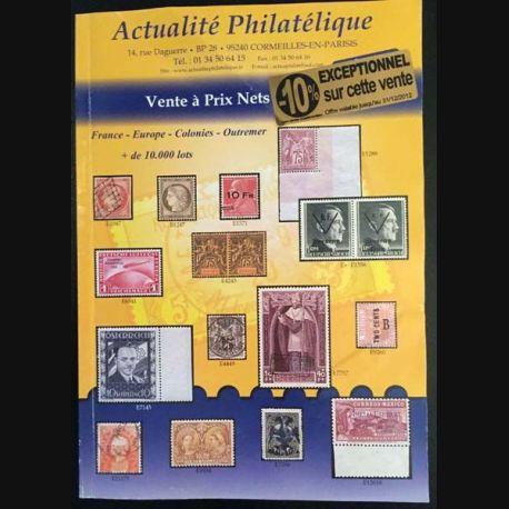 """1. Actualité Philatélique Vente à prix nets """"Été 2012"""""""