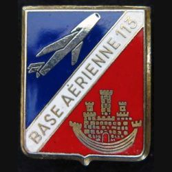 Base aérienne 113 de Saint Dizier dos guilloché doré épingle cassée