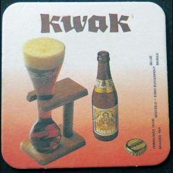 DESSOUS DE VERRE A BIÈRE : Kwak de largeur 9 cm