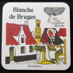 DESSOUS DE VERRE A BIÈRE : Blanche de Bruges de largeur 9 cm