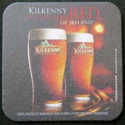 DESSOUS DE VERRE A BIÈRE : Kilkenny Red ofg Ireland de largeur 9,3 cm