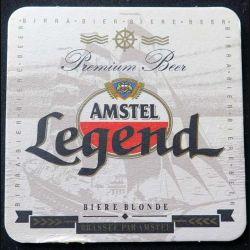 DESSOUS DE VERRE A BIÈRE Amstel Legend de largeur 10 cm