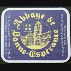 DESSOUS DE VERRE A BIÈRE Abbaye de Bonne Espérance de largeur 10 cm