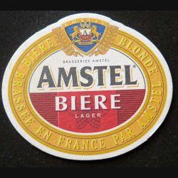 DESSOUS DE VERRE A BIÈRE Amstel de largeur 10,2 cm