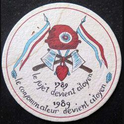 DESSOUS DE VERRE A BIÈRE Bicentenaire de la Révolution française de diamètre 10,7 cm