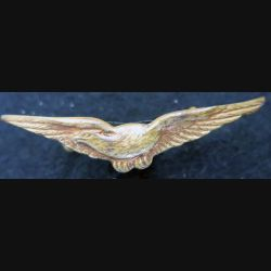 insigne de calot de l'armée de l'Airen métal doré