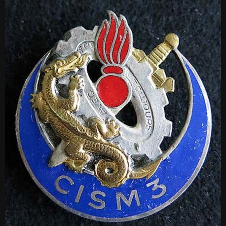 centre d'instruction du service du Matériel N° 3 Drago G. 1575 émail