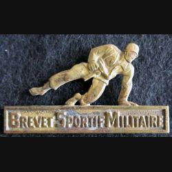 brevet sportif militaire Drago Déposé G. 1469 dos guilloché bronze