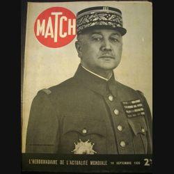 MATCH L'HEBDOMADAIRE DE L'ACTUALITE MONDIALE DU 14 SEPTEMBRE 1939 (C72)