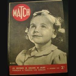 MATCH LES UNIFORMES EN COULEURS DU SOLDAT FRANCAIS A TRAVERS LES SIÈCLES DU 21 DECEMBRE 1939 (C72)